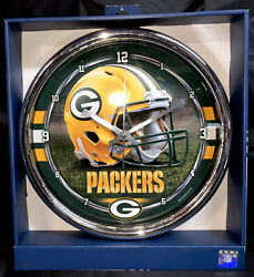 NFL Green Bay Packers Chrome Wincraft Wall Clock