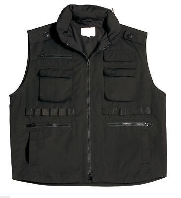 KIDS RANGER VEST ARMY VEST BLACK ROTHCO 8557 Kids Black Ranger Vest