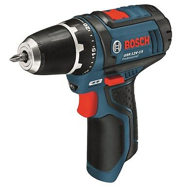 Bosch Akkuschrauber GSR 12V-15 / 10,8-2-LI ohne Akku ohne Ladegerät