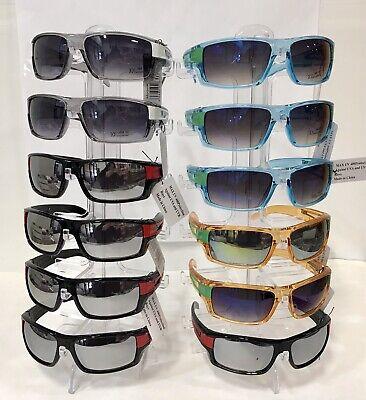 LX1001 Men Sport Square Sunglasses Plastic Frame Mirrored Lens Wholesale 12 pair - Plastic Sunglasses Wholesale