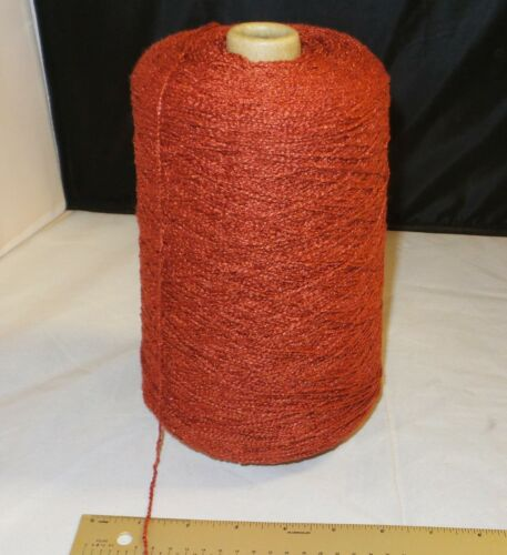 2lb 11oz Rayon Knitting Cone Spool - PAPRIKA RED Yarn