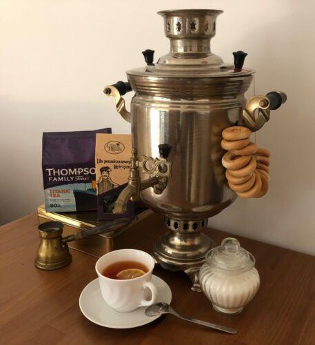 Vintage Russian Charcoal/Wood Samovar Soviet Tea/Coffee Maker