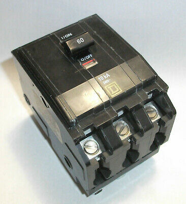 Electric Square D Back Up Generator Type Qo Hrcr 60a 3 Pole Circuit Breaker New