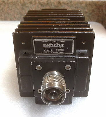 Weinschel 40-10-43 Dc To 1.5 Ghz 10 Db 150 Watts Type N M-f Coax Attenuator
