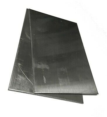 2pc 16gauge .060 4x6 304 Stainless Steel Plates Sheet Metal Welding Test