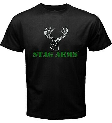 Stag Arms AR-15 Rifle Military Tactical Hunting Firearm Black T-shirt Size S-5XL