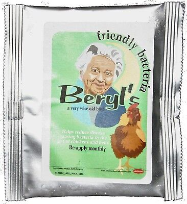 Beryl's Friendly Bacteria for garden poultry (Probiotic)12 bird pack from AviVit