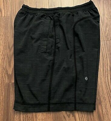 "Men's LuluLemon Black Lined Pace Breaker SHORTS 8"" Sz M"