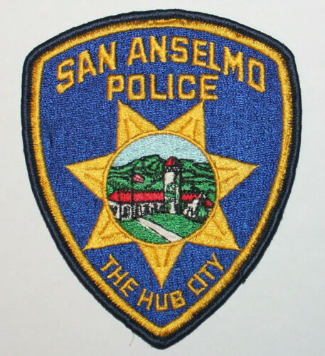 Defunct SAN ANSELMO POLICE The Hub City Marin County California CA Vintage patch