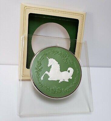 Vintage Hallmark Keepsake Ornament Unicorn Cameo Christmas Tree Decoration 1981