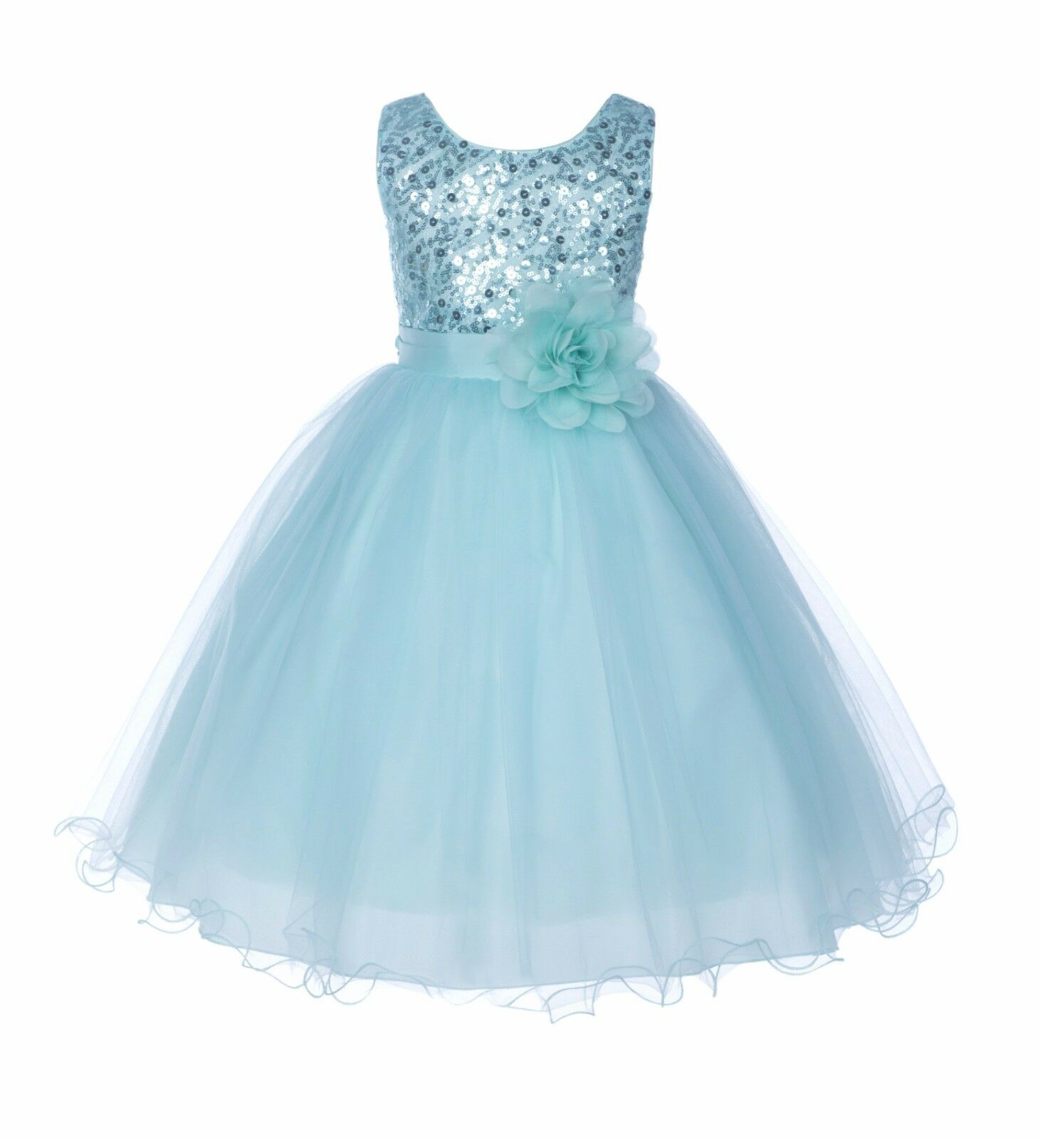 Wedding Sequin Mesh Flower Girl Dresses Graduation Pageant Birthday ...