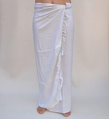 Sari Tuch (Sarong (SAU612P) unifarben Premium Qualität Pareo Tücher Wickeltuch Sari Sarongs)