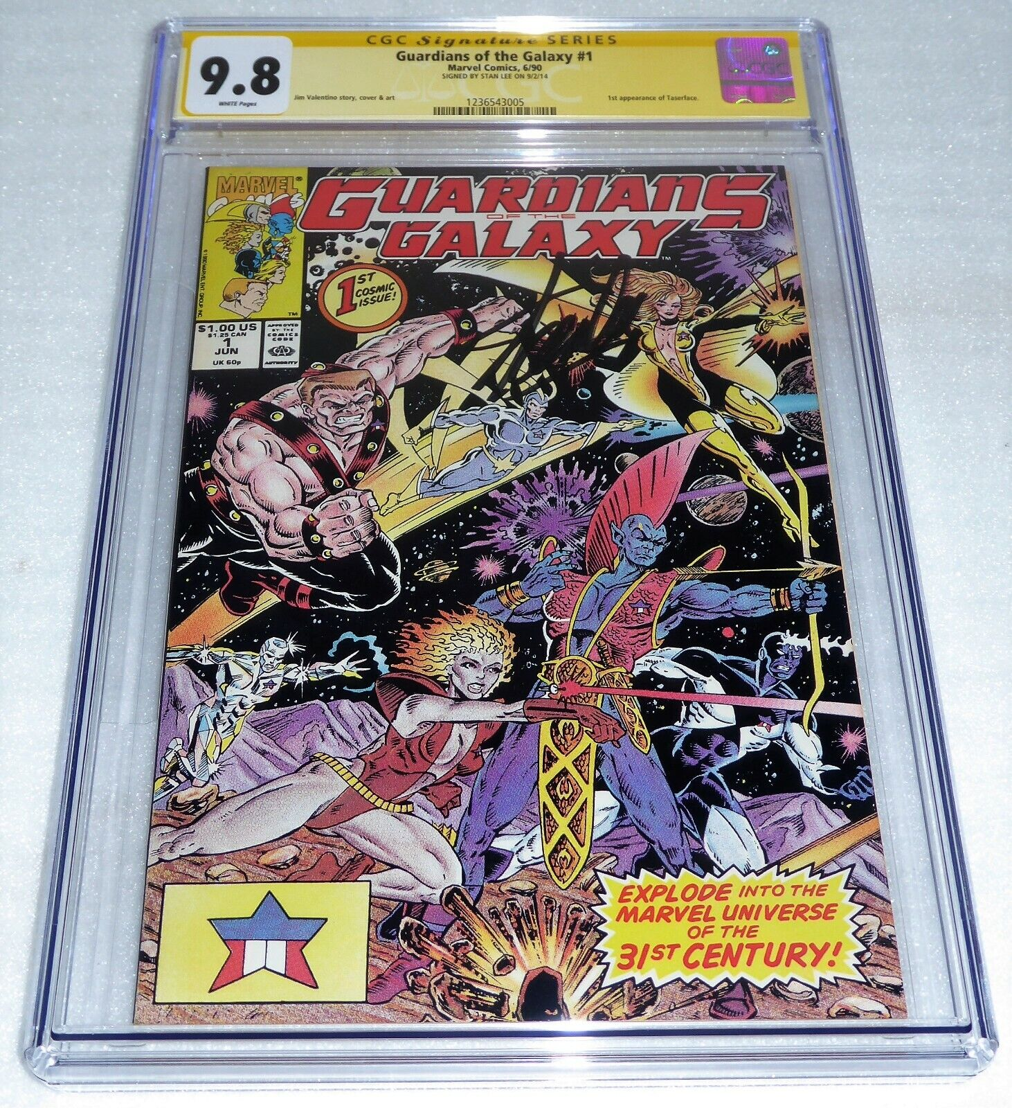 Guardians of the Galaxy #1 CGC SS Signature Autograph 9.8 STAN LEE 1st Taserface