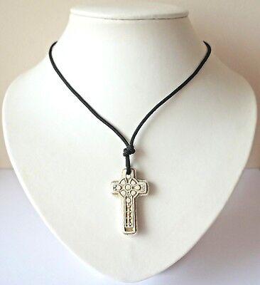 Keltisches Kreuz Halsband / Anhänger Gothic Heidnisch Druid Kostüm Schmuck - (Damen Kostüm Druide)