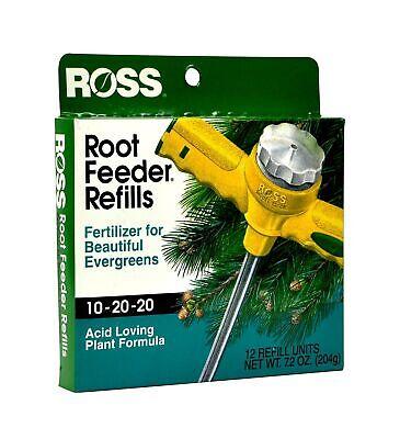 Ross Evergreen Shrub and Tree Fertilizer Refills Root Feeder, 10-20-20 For Al...