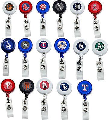 MLB badge reel lanyard RETRACTABLE PICK YOUR TEAM