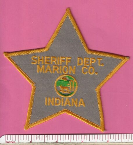 Marion County Indiana State of IN Sheriff Dept. Law Enf. Police Shoulder Patch