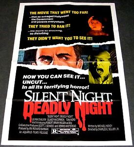 SILENT NIGHT, DEADLY NIGHT 1985 ORIGINAL 27x41 MOVIE POSTER! CHRISTMAS HORROR!