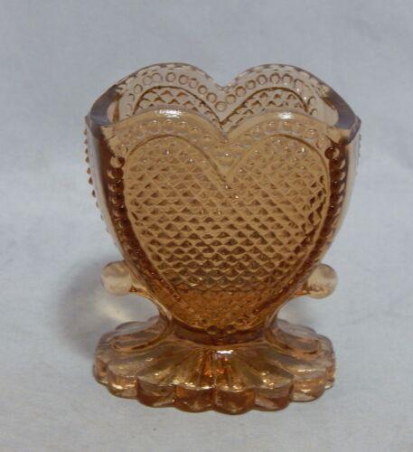 Degenheart Glass Amber Heart Toothpick