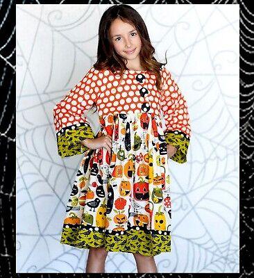 NWT JELLY THE PUG Pumpkin Hannah Dress Halloween - Girls Size 8  $75 (Pug Halloween)