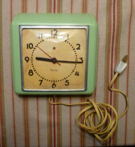 Jadeite Westclox Mid Century Clock