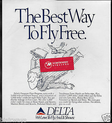 DELTA AIR LINES 1990 THE BEST WAY TO FLY FREE FREQUENT FLYER PROGRAM (Best Frequent Flyer Program)