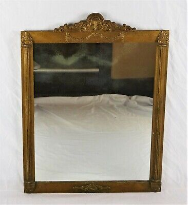 Antique Victorian Art Nouveau Style Ornate Gold Gilt Gesso Wall Mirror