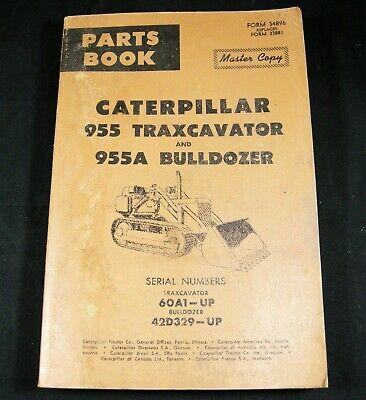 Cat Caterpillar 955 Traxcavator 955a Bulldozer Parts Manual 60a1-up 42d329-up