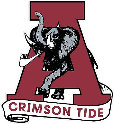 Alabama Crimson Tide Football Full Color Logo Decal Sticker free shipping