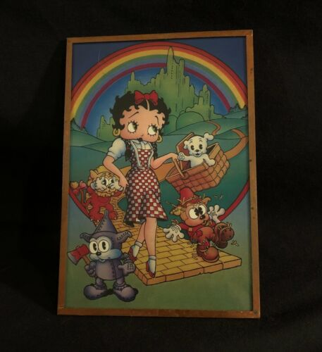 """Betty Boop """"Wizard of Oz"""" 4.5"""" x 6"""" hanging sign"""