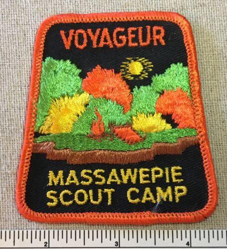 Vintage CAMP VOYAGEUR Boy Scout PATCH Massawepie Otetiana Council NY BSA SCOUTS