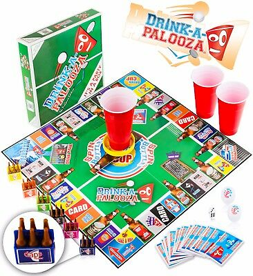 DRINK-A-PALOOZA Board Game: Fun Drinking Games for Adults & Game Night Party  - Board Game Party