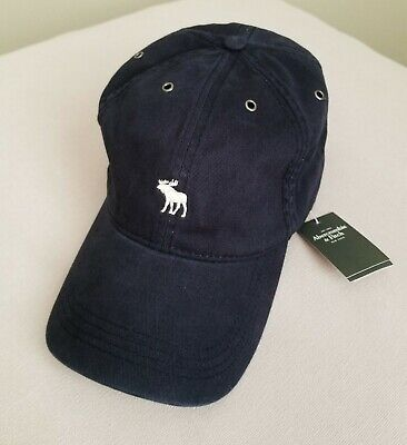 NWT Abercrombie & Fitch Icon Twill Hat Navy - One Size