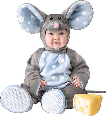 Lil' Maus Kleinkinder Kostüm Gefüttert Reißverschluss Kapuzenoverall - Maus Kostüm Kleinkind