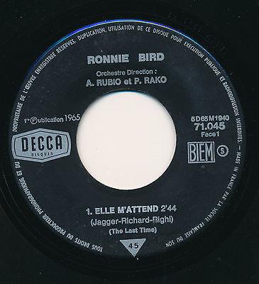 """RONNIE BIRD 45 TOURS 7"""" FRANCE ELLE M'ATTEND (DES ROLLING STONES)"""