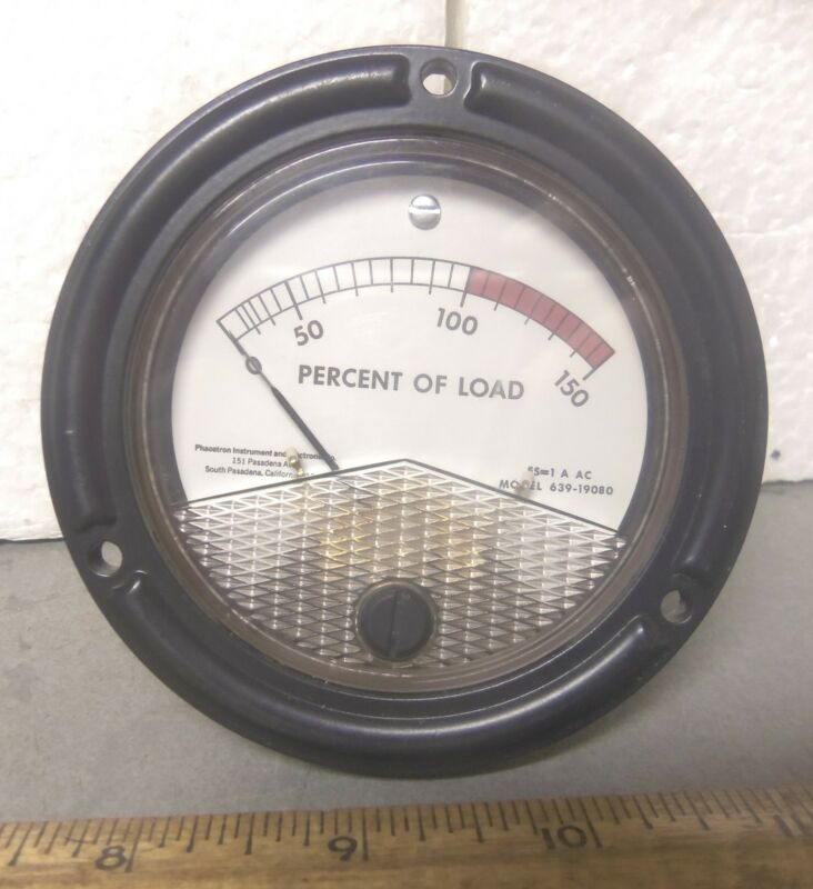 Phaostron Instrument & Electronics - Percent of Load Gage - P/N: 7930967 (NOS)