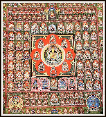 """Mysterious!   """"Thankga Fine Art Print from Tibet""""   (35"""" High x 31.5"""" Wide)"""