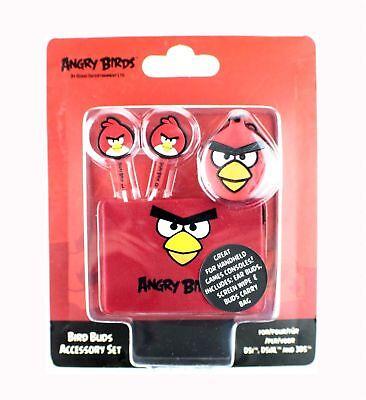 Angry Birds Auriculares Internos Estéreo Rojo IPHONE IPAD Ipod 3DS Accesorio De