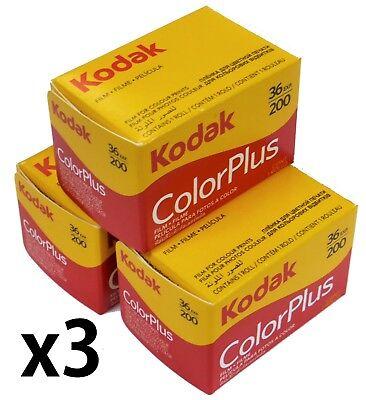 Kodak 6031470 135 36 200 ColorPlus   135 36 Exp 200asa film  3 Rolls Exp 06/2022