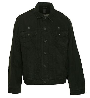 Rocawear Men's Button Front Denim Jacket Black Wash Size 48 $89