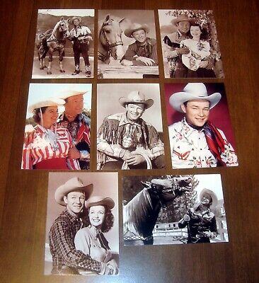 NEW 8 unused Roy Rogers Dale Evans Trigger Postcard LOT Licensed Copyrighted