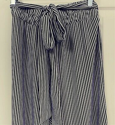 BLACK & WHITE STRIPED PANTS STEAMPUNK/GANGSTER/MAFIA COSTUME? WOMENS M/L