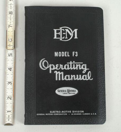 1948 GM Electro-Motive Division Diesel Locomotive Operating Manual Model F3
