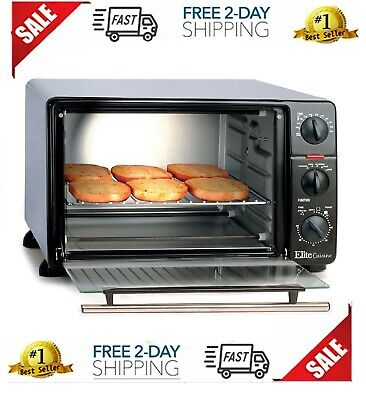 6 Slice Toaster Oven Broiler XL Extra Large Capacity Rotisserie Bake Toast Broil