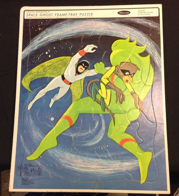 "1967 Whitman Hanna-Barbera ""Space Ghost"" Frame Tray Puzzle exc++"