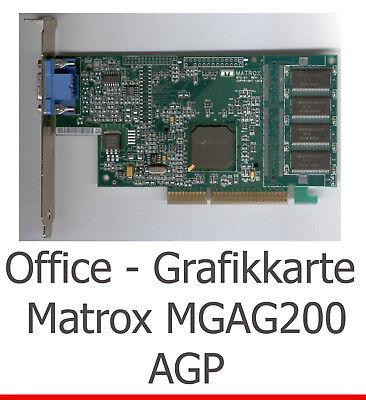 LAUTLOSE OFFICE GRAFIKKARTE 3D MATROX G200 AGP FÜR WINDOWS 2000 7 XP VISTA LINUX