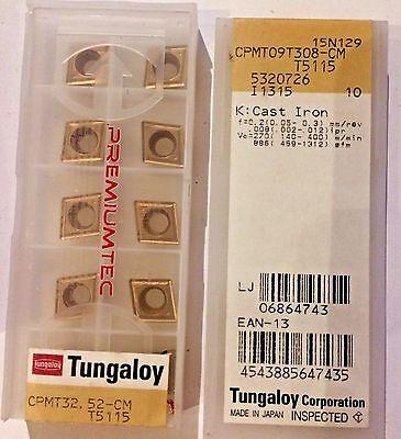 Tungaloy Carbide Inserts - Cpmt32.52-cm T5115 Cpmt09t308-cm - Qty.10 - New