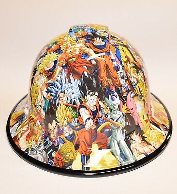 Custom Wide Brim Hard Hat Hydro Dipped In Dragon Ball Z 2 W Brim Guard
