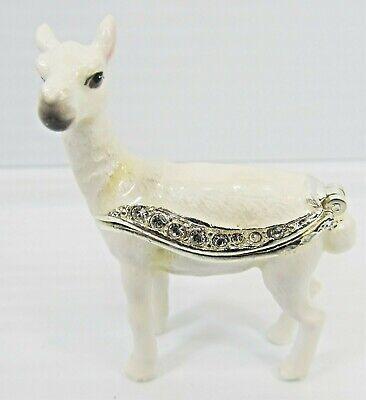 LLama Mini Jeweled Trinket Box Wildlife Collectibles Home Decor Wildlife Trinket Boxes