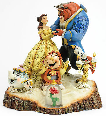 Disney Traditions Beauty Belle & Beast Tale as Old as Time Figurine NEW in BOX